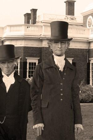 Thomas Jefferson and James Madison at Monticello