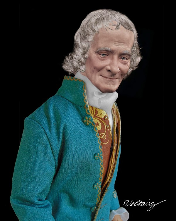 Voltaire Life Mask Reconstruction Houdon
