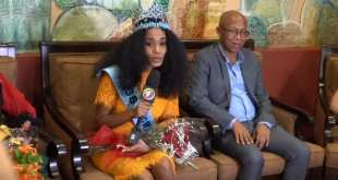 miss world 2019 Toni-Ann Singh in Jamaica at airport