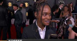 Koffee at the Grammy7's, talks Barack and Michelle Obama loving her Music [Video]
