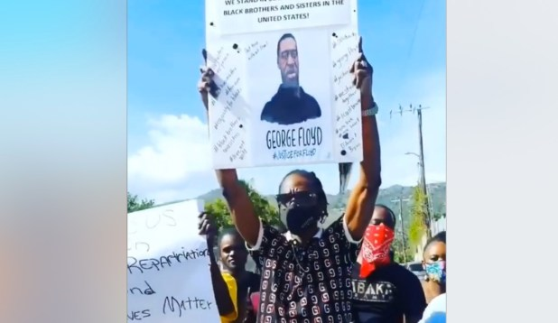bounty killer protest at us embassy george floyd