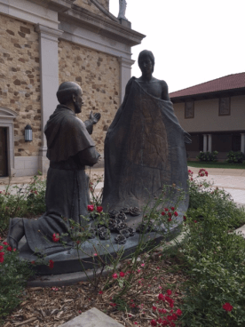 St. Juan Diego opens his tilma