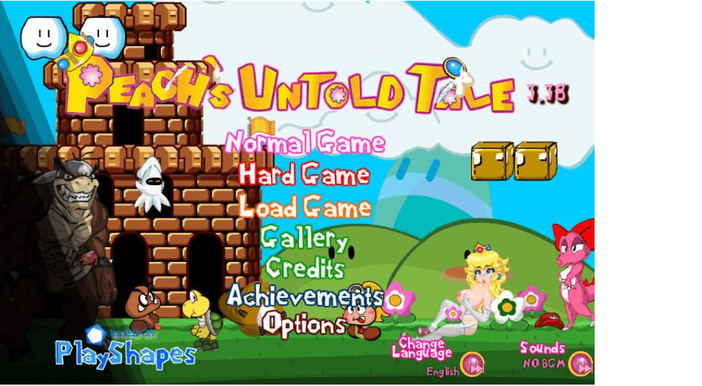 Peach's Untold Tale — online erotic flash game