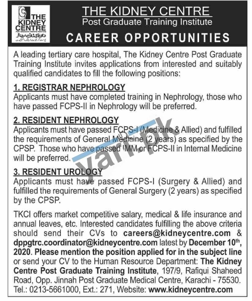 The Kidney Centre Medical Staff Jobs 2020   Govt Jobs