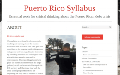 Puerto Rico Syllabus: Essential tools for critical thinking about the Puerto Rican debt crisis