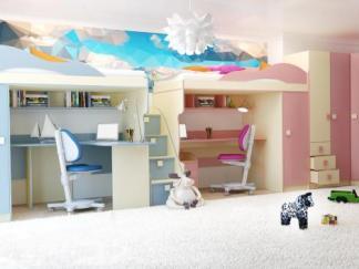 1Г. Кровать 2-этаж + шкаф РАДУГА