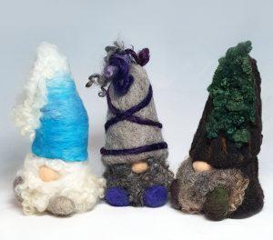 Beginning Needle Felting: Gnomes