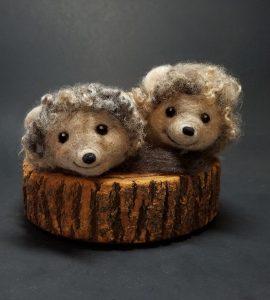 Beginning Needle Felting: Hedgehogs