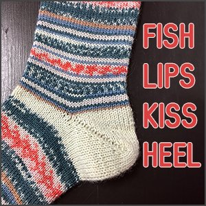 Socktober: Fish Lips Kiss Heel