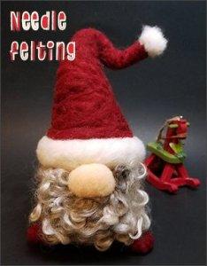 Holiday Needle Felting - Santa