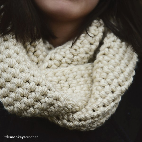 Simply Single Crochet Infinity Scarf