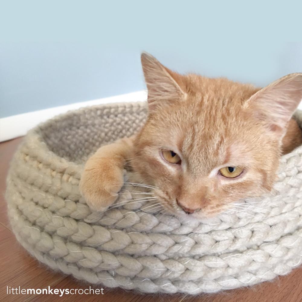 Crochet Cat Bed Pattern Free | ... Crochet Pattern: Super ... | 1000x1000