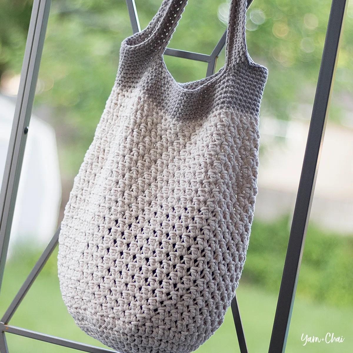 crocheted bag blue crochet bag shopping bag crochet market bag market bag tote bag beach bag Market tote bag blue market bag