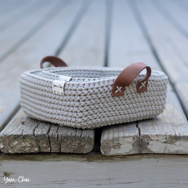 Herringbone Square Basket Set