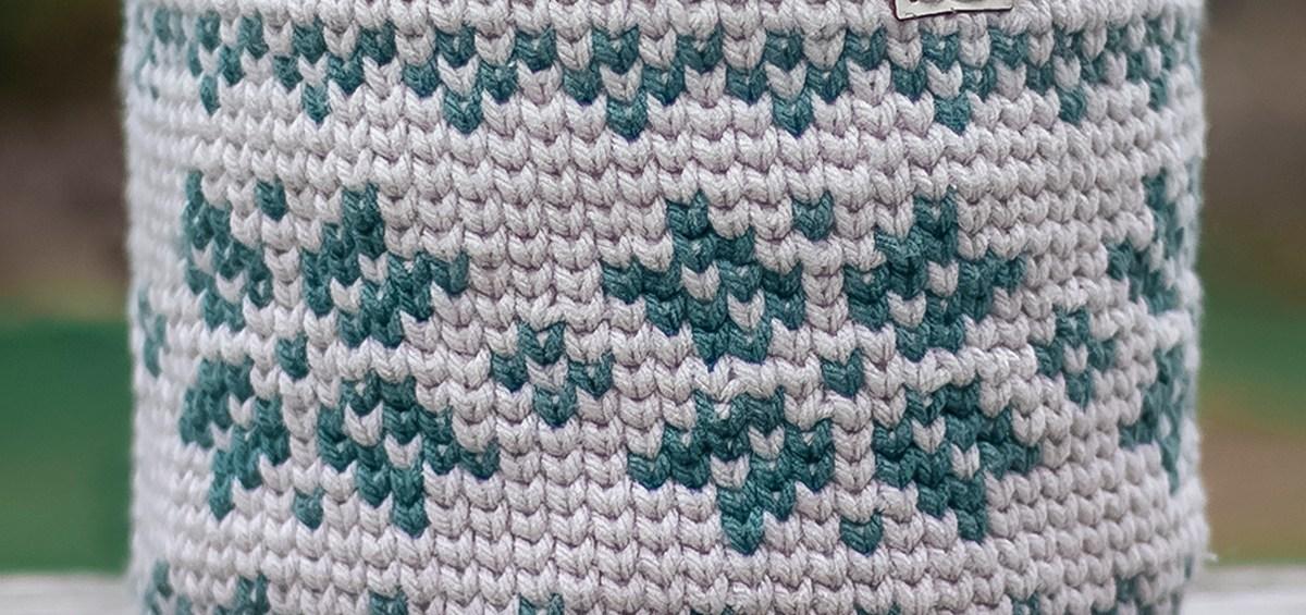 Fair Isle Basket Crochet Pattern by Rebecca Langford Yarn + Chai
