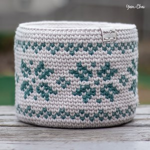 Fair Isle Basket Crochet Pattern by Rebecca Langford Yarn + Chai