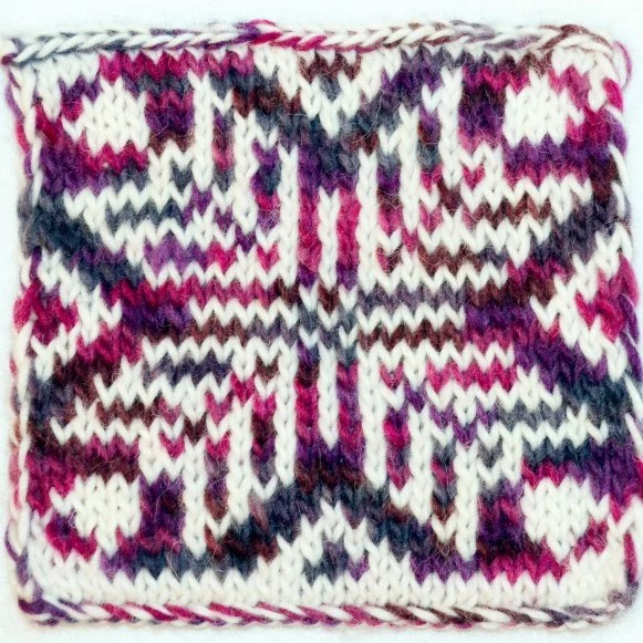 Double-knitting pattern created in Stitch Fiddle - face 1