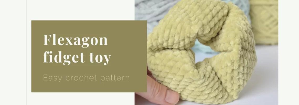 flexagon fidget toy crochet pattern yarnandy cover