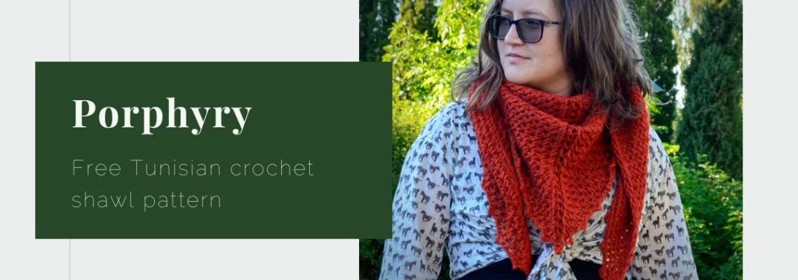 Porphyry free Tunisian crochet pattern yarnandy featured image