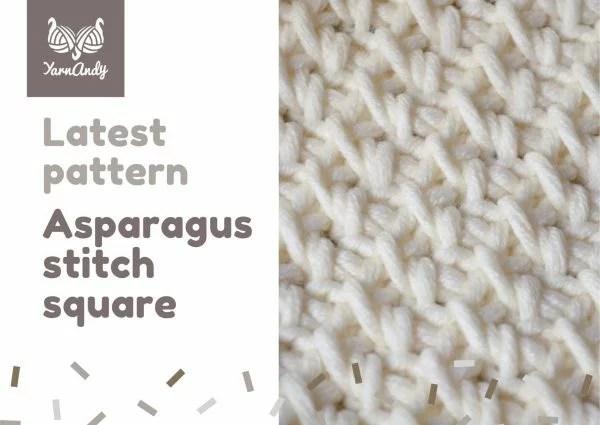 Asparagus stitch Tunisian crochet