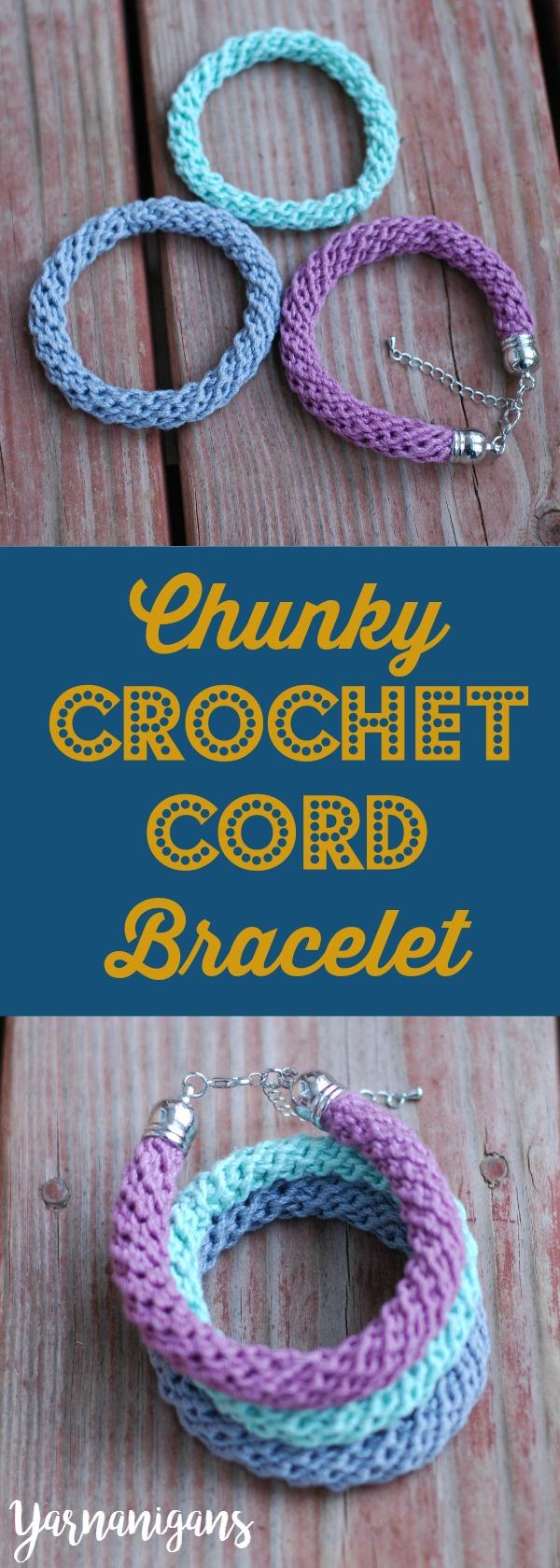 chunky crochet cord pinterest