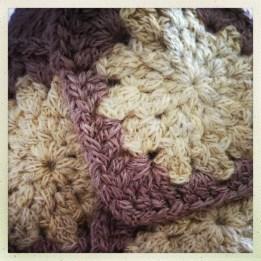 Crochet squares in Rowan Lima