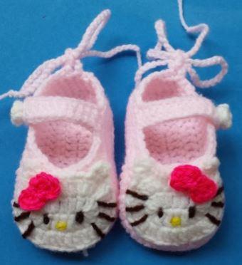 Baby Shower Gifts Crochet Pattern Baby Booties Hello Kitty Yarn