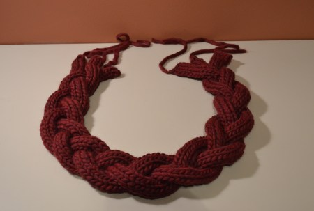 braided scarf, almost finished