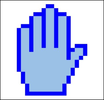 Hands of Blue (left)