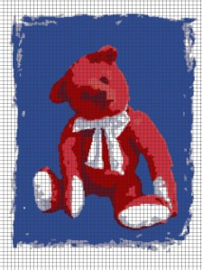 Teddy Bear – (Chart/Graph AND Row-by-Row Written Instructions) – 01