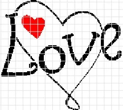 Simple Love – (Chart/Graph AND Row-by-Row Written Instructions)