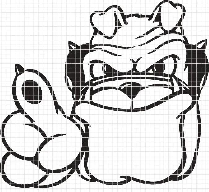 University of georgia bulldog logo chart graph and for Georgia bulldog coloring pages