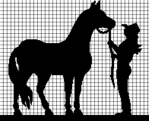Cowgirl and Her Horse (Chart/Graph AND Row-by-Row Written Instructions)