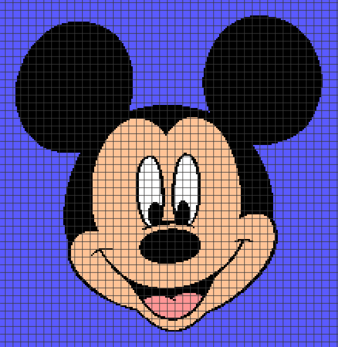 Mickey Mouse (Chart/Graph AND Row-by-Row Written Crochet ...