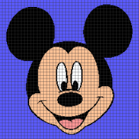 Mickey Mouse (Chart/Graph AND Row-by-Row Written Crochet Instructions) - 03