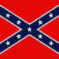 Confederate/Rebel Flag (Chart/Graph AND Row-by-Row Written Crochet Instructions) - 04