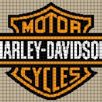 Harley Davidson Logo (Graph AND Row-by-Row Written Crochet Instructions) - 08