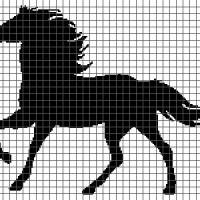 Horse (Graph AND Row-by-Row Written Crochet Instructions) - 02