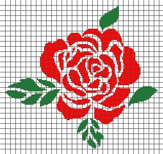 Rose (Graph AND Row-by-Row Written Crochet Instructions) – 07