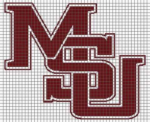 Mississippi State University (Graph AND Row-by-Row Written Crochet Instructions) – 03