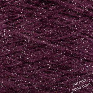 4 ply glitter chenille silver lurex yarn on cone