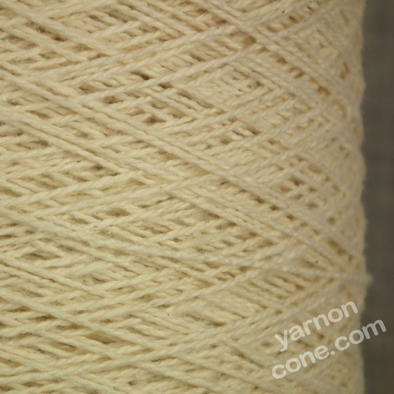 Ecru undyed natural pure 100% cotton weaving twist yarn on cone