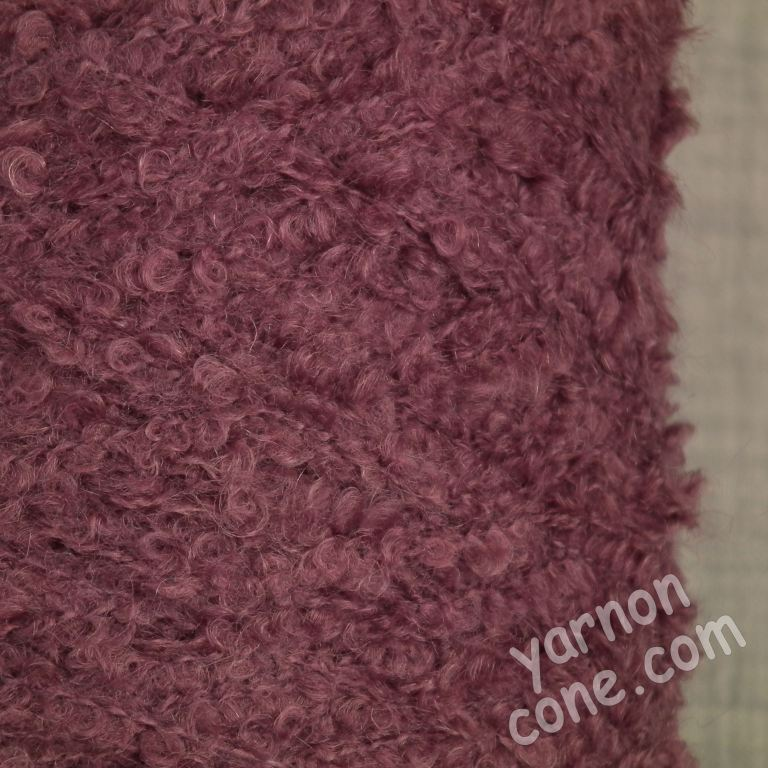 kid mohair loop boucle on cone merino soft warm 4 ply yarn mauve purple