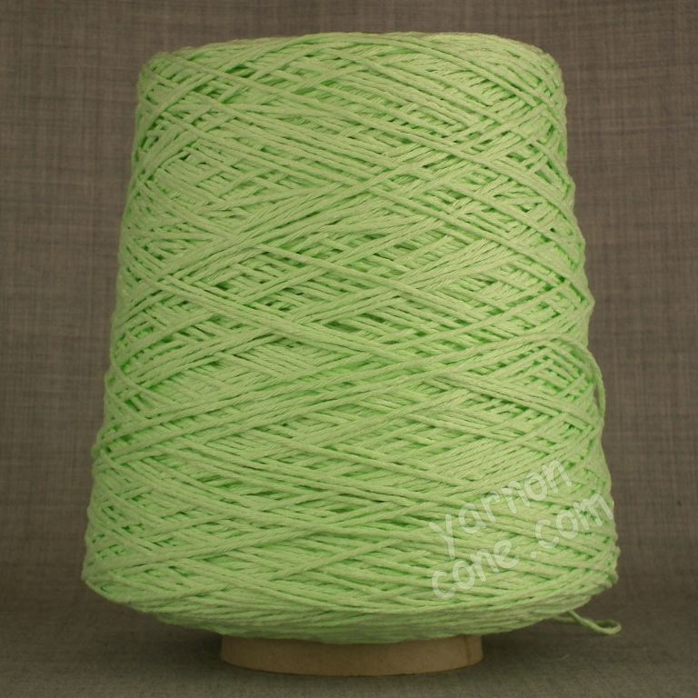 Double knitting DK soft pure cotton yarn on cone hand machine knitting weaving crochet mint green pastel light