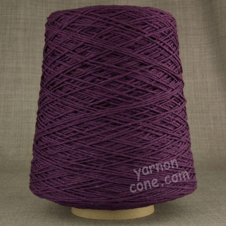 Double knitting DK soft pure cotton yarn on cone hand machine knitting weaving crochet purple