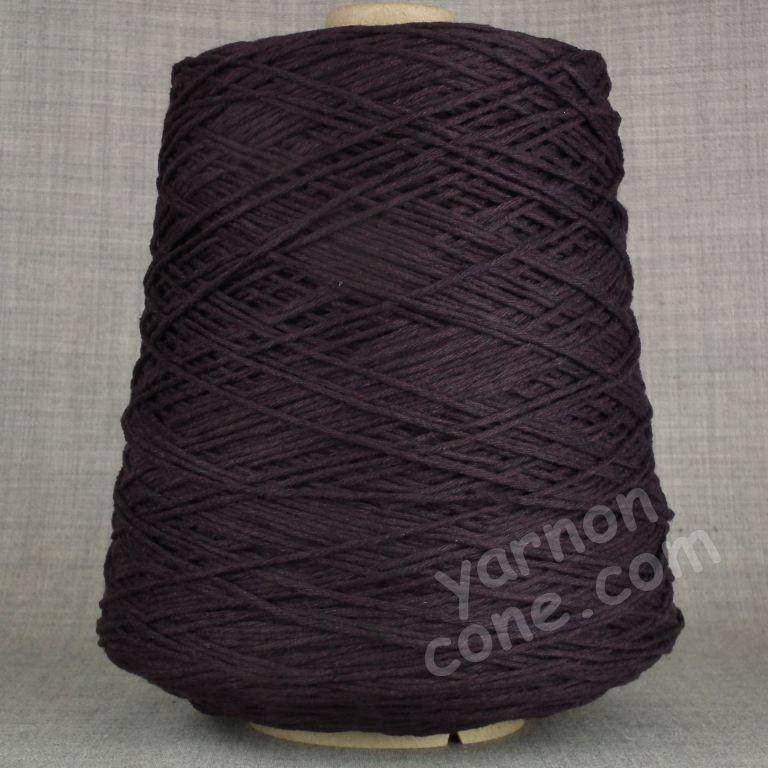 Double knitting DK soft pure cotton yarn on cone hand machine knitting weaving crochet aubergine purple
