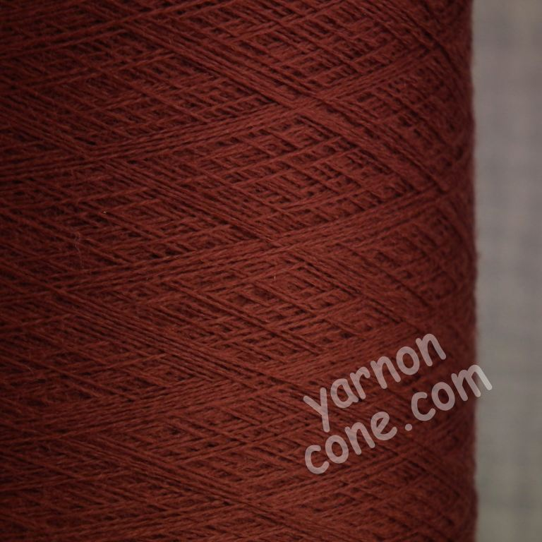 2/60NM extra fine merino wool knitting yarn on cone cobweb weight sienna brown