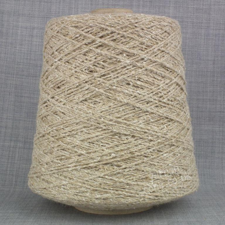 Wool flax silk blend yarn undyed ecru weaving twist yarn on cone warp weft rustic style texture uk supplier