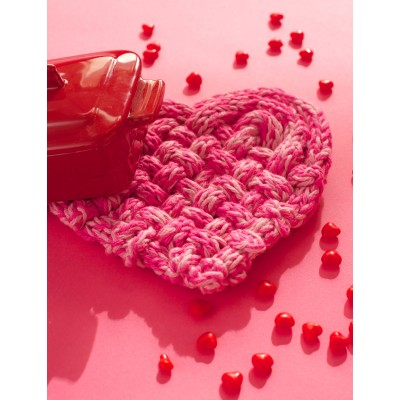 FREE Knitting Pattern ♥ True Love Trivet by Lily / Sugar'n Cream