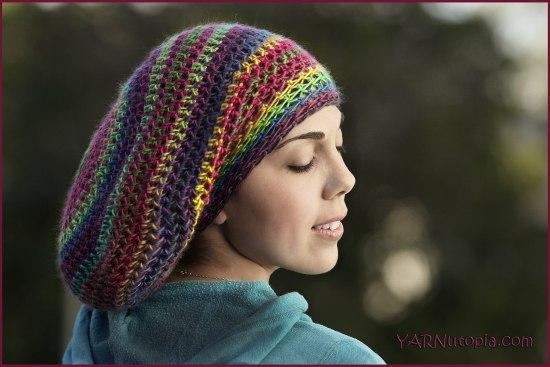 Brown Beanie Handmade Crochet Slouch Beanie Women\u2019s Hat Multicolor Brown Beanie Cookie Dough Slouchie Beanie